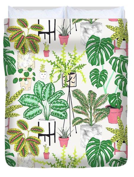 House Plants Duvet Cover