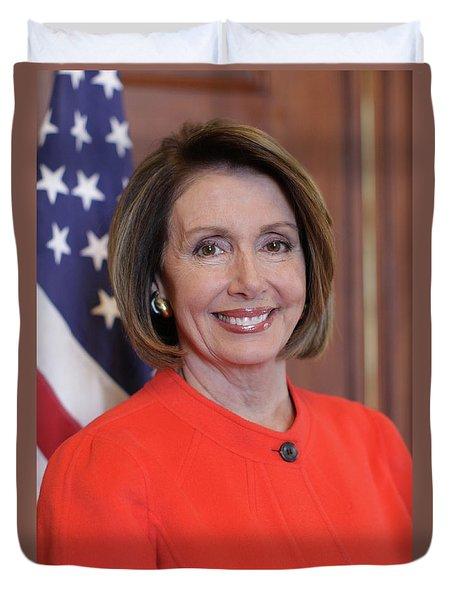 House Speaker Nancy Pelosi Of California  Duvet Cover