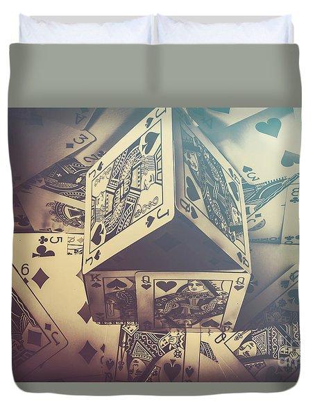 House That Poker Built Duvet Cover