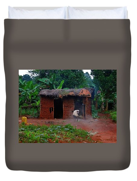 Housecleaning Africa Style Duvet Cover by Exploramum Exploramum