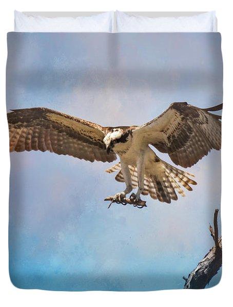 Housekeeping Osprey Art Duvet Cover by Jai Johnson