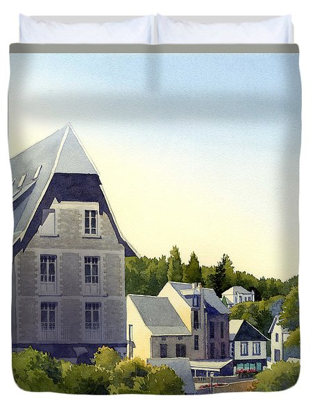 Houses At Murol Duvet Cover