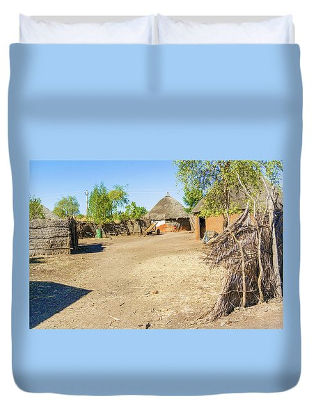 Houses In Rashid,  Sudan Duvet Cover