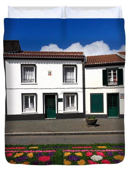 Houses In The Azores Duvet Cover by Gaspar Avila