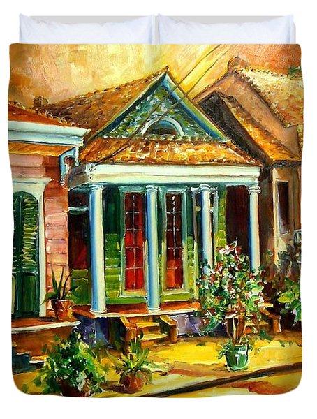Houses In The Marigny Duvet Cover by Diane Millsap