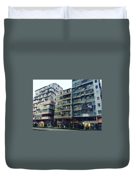 Houses Of Kowloon Duvet Cover