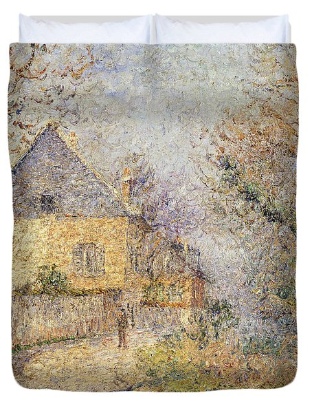 Houses On The Banks Of The Eure Duvet Cover