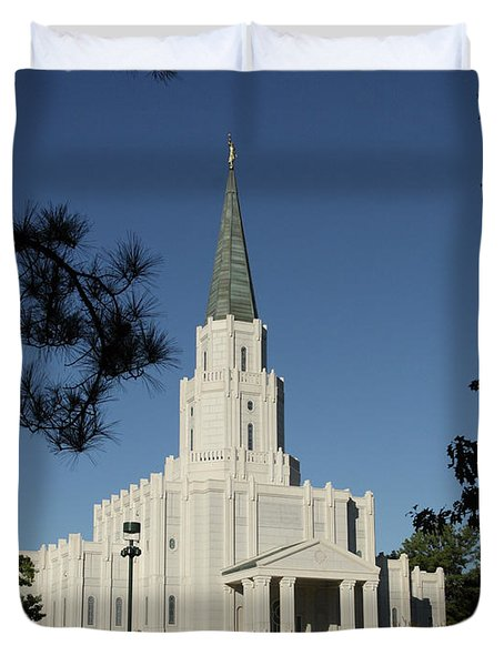 Houston Lds Temple Duvet Cover