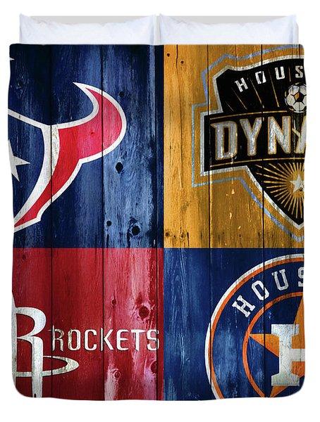 Houston Sports Teams Barn Door Duvet Cover