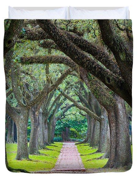 Houston Trees Duvet Cover