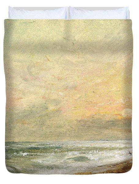 Hove Beach Duvet Cover by John Constable