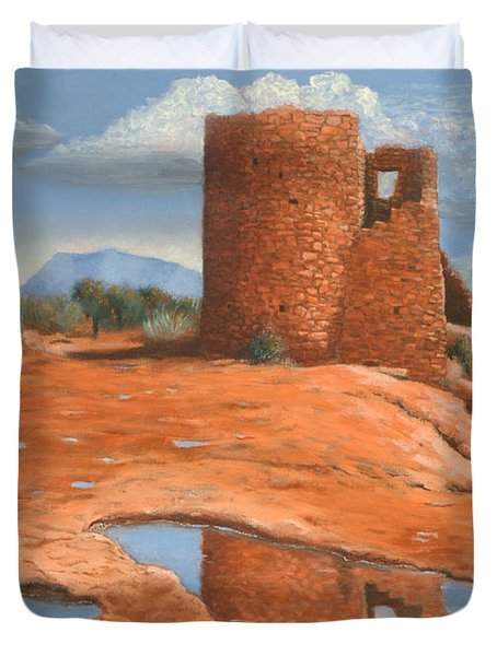 Hovenweep Reflection Duvet Cover by Jerry McElroy
