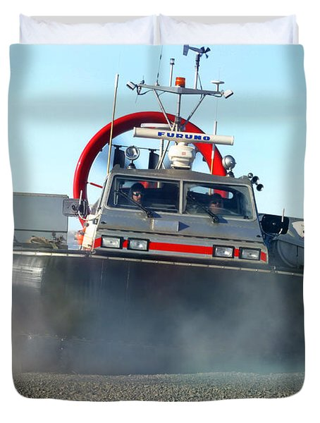 Hover Craft Duvet Cover by Anthony Jones