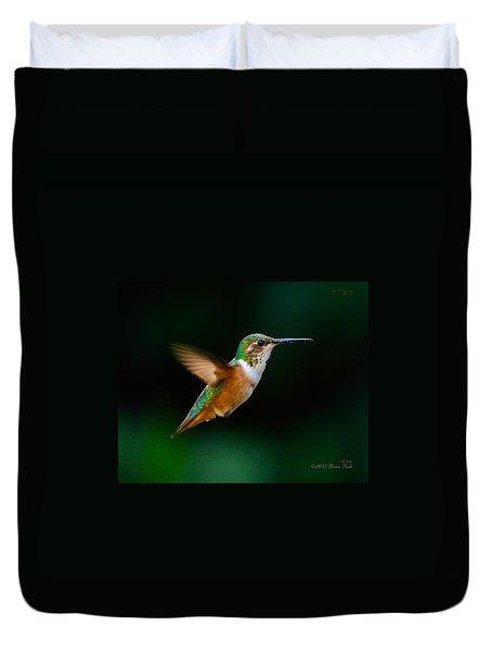 Hovering Allen's Hummingbird Duvet Cover