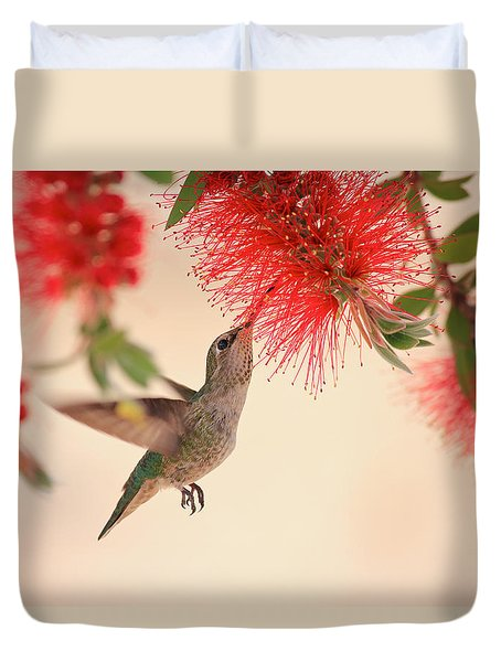 Hovering Hummingbird Duvet Cover
