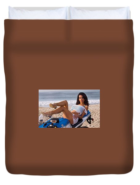 Duvet Cover featuring the photograph How About Those Legs? by Lawrence Christopher