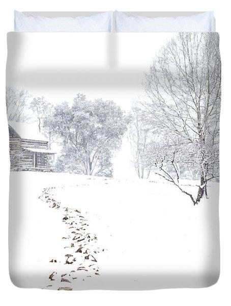 How Many Snows? Duvet Cover