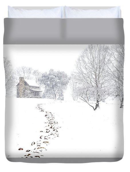 How Many Snows? Duvet Cover