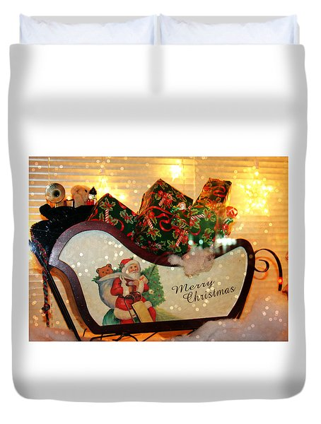 How Much For That Sleigh In The Window? Duvet Cover