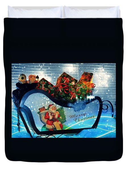 Duvet Cover featuring the photograph How Much For That Sleigh In The Window? II by Aurelio Zucco