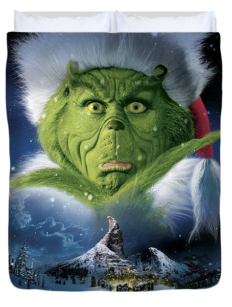 How The Grinch Stole Christmas 2000  Duvet Cover