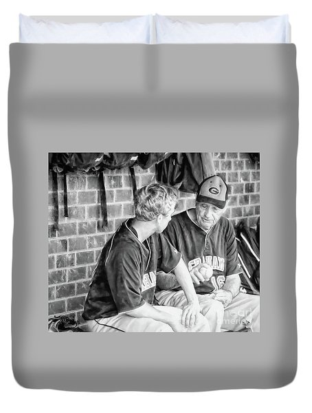 Duvet Cover featuring the photograph How To Throw A Curve Ball by Benanne Stiens