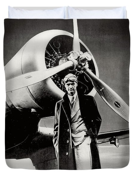Howard Hughes - American Aviator  Duvet Cover