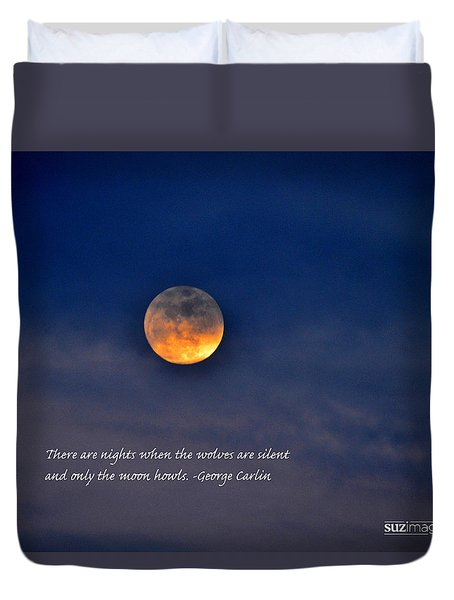 Howling At The Moon Duvet Cover