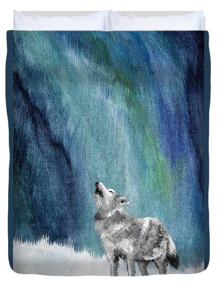 Howling Northern Sky Duvet Cover