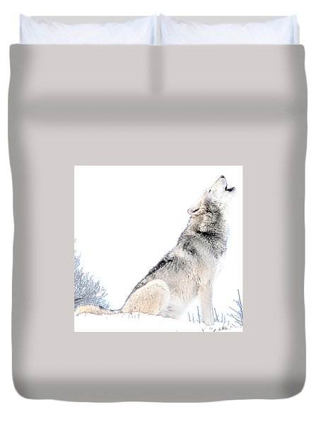 Howling Wolf 1 Duvet Cover