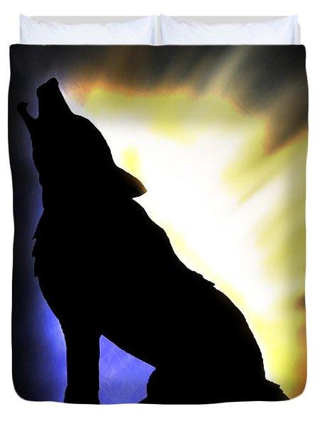 Howling Wolf Duvet Cover