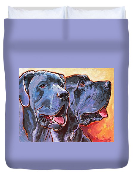 Howy And Iloy Duvet Cover by Nadi Spencer