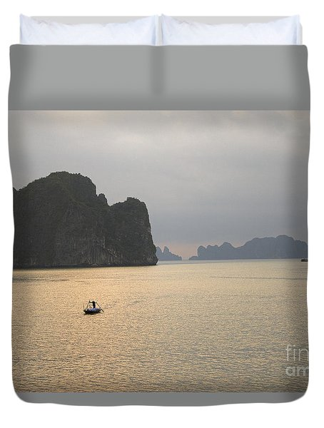 Duvet Cover featuring the photograph Hu Long Bay by J L Woody Wooden