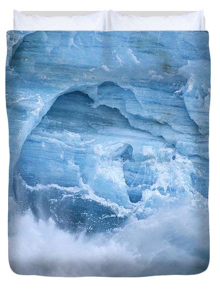 Hubbard Glacier Calving Chunks Of Ice Duvet Cover