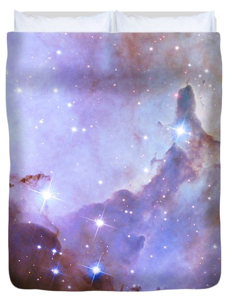Duvet Cover featuring the photograph Hubble Space Telescope Celebrates 25 Years Of Unveiling The Universe by Nasa