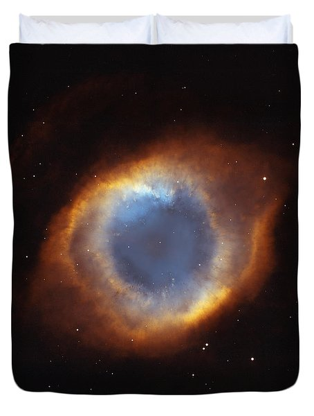 Hubble Telescope Image Of The Helix Duvet Cover by Nasa