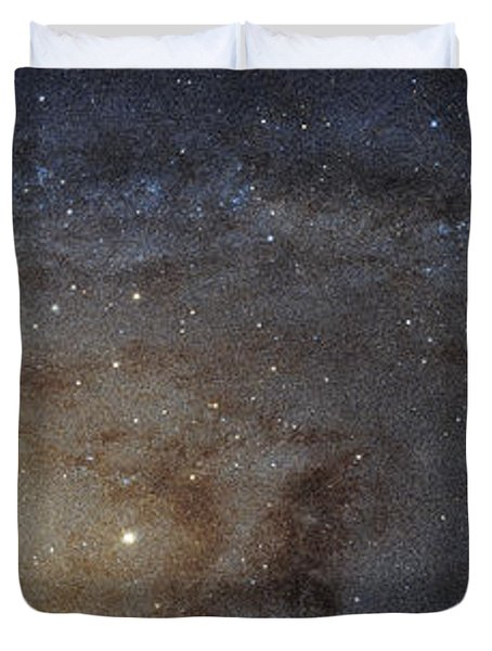 Duvet Cover featuring the photograph Hubble's High-definition Panoramic View Of The Andromeda Galaxy by Adam Romanowicz