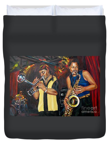 Hud N Lew/ The Daddyo Brothers Duvet Cover