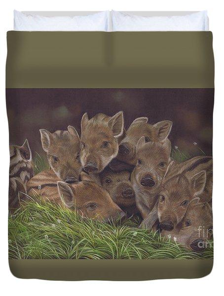 Huddle Of Humbugs Duvet Cover