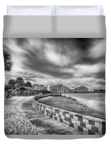 Duvet Cover featuring the photograph Hudson Beach by Howard Salmon