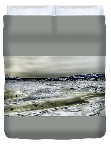 Hudson River Cold Spring, New York Duvet Cover by Rafael Quirindongo
