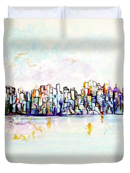 Hudson River View Duvet Cover
