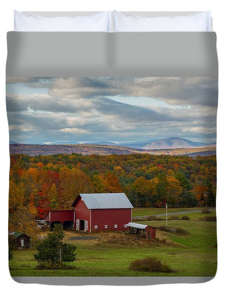 Hudson Valley Ny Fall Colors Duvet Cover
