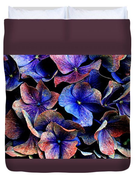 Duvet Cover featuring the digital art Hues by Julian Perry