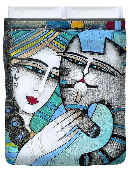 hug Duvet Cover by Albena Vatcheva