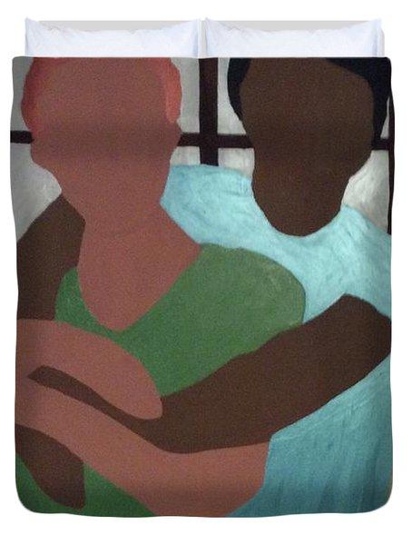Hug Me Duvet Cover by Erika Chamberlin