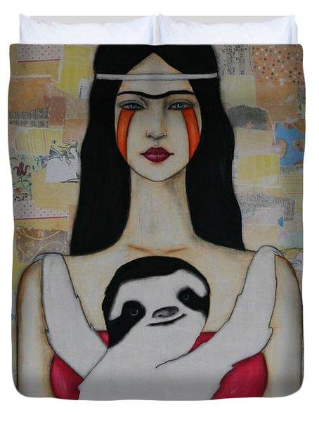 Hug Me Forever Duvet Cover by Natalie Briney