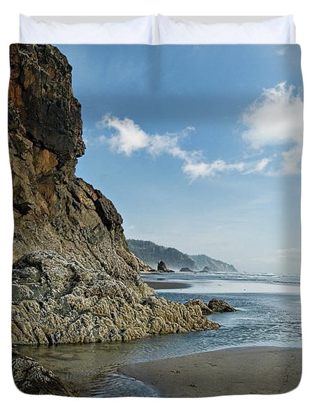 Hug Point Beach Duvet Cover