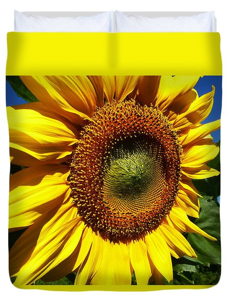 Huge Bright Yellow Sunflower Duvet Cover