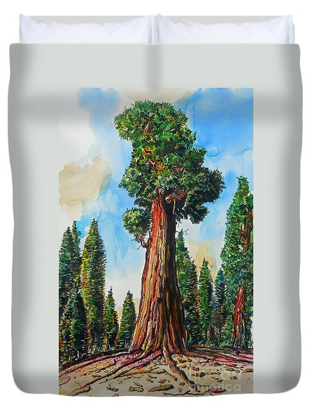 Huge Redwood Tree Duvet Cover by Terry Banderas